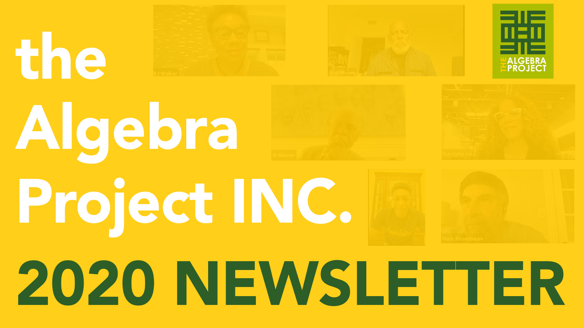 2020 Algebra Project INC Newsletter